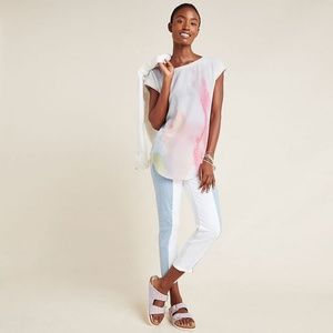 NWT Anthropologie Watercolor Blouse S